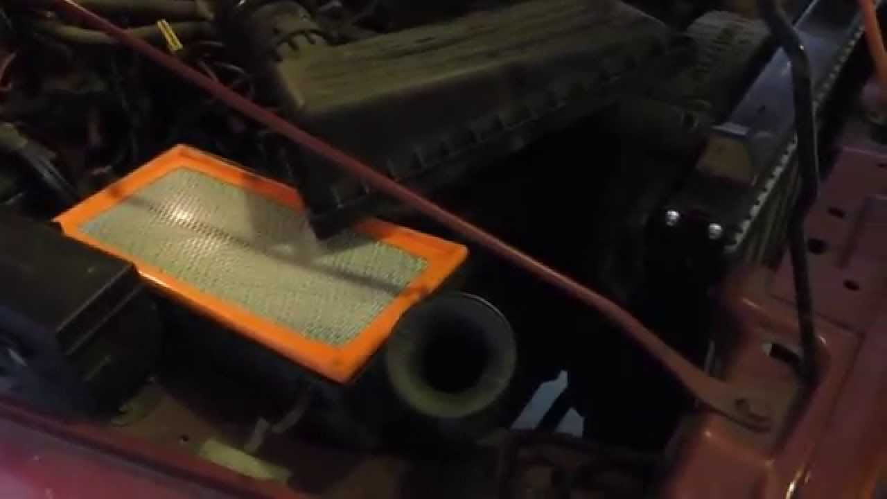 How To Change Air Filter Jeep Wrangler Tj 1999 Tune Up