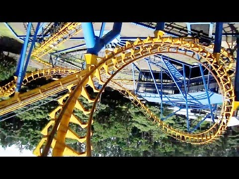 Bocaraca front seat on-ride HD POV Parque Diversiones, Costa Rica