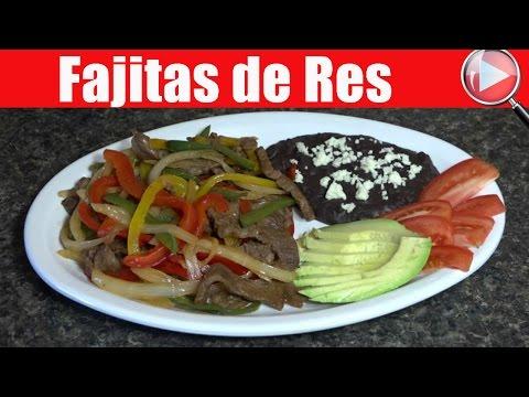 Fajitas de Res / Comida Mexicana - Recetas en Casayfamiliatv