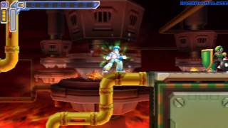 Mega Man Maverick Hunter X Walkthrough (Flame Mammoth)