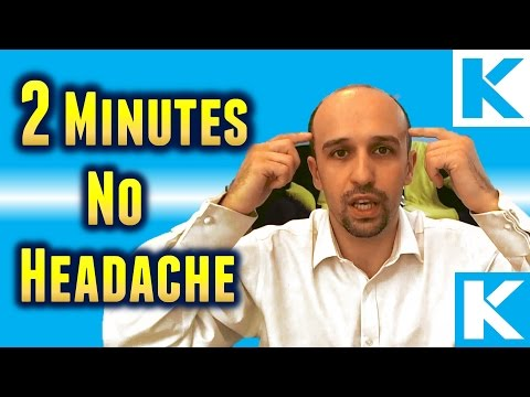 How To Get Rid Of Headache Or Migraine In 2 Minutes Or Less