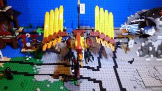 Lego Ninjago Fire Temple 2507 Stop Motion Brickfil