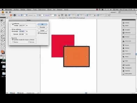 Adobe Illustrator Herramienta escala.© UPV