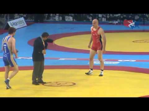 2011 Worlds Freestyle 84kg Bronze - Albert Satirov (RUS) vs. Cael Sanderson (USA) Image 1