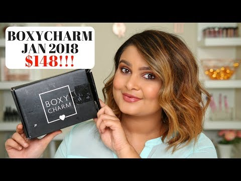 BOXYCHARM JANUARY 2018 UNBOXING | $148 WORTH OF PRODUCTS!!! | GLAMDIT