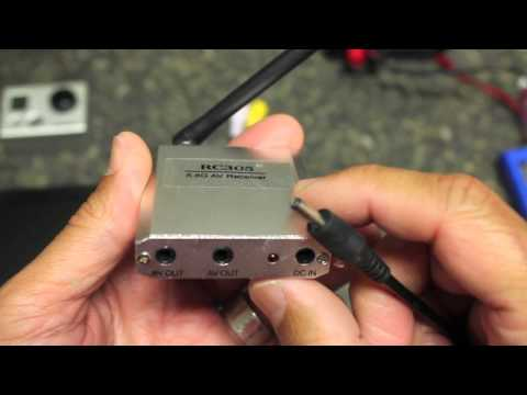 How to Setup FPV w/ GoPro HD. HobbyKing 5.8GHz Transmitter/Receiver for DJI Naza Quadcopter