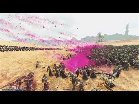 1900 Death Bombardiers vs 4800 Dreadspears Total War Warhammer 2