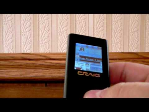 How to use a Craig MP3/MP4 Player