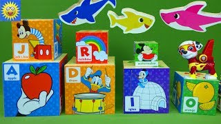 Learning Video for Kids Counting  Math Addition Paw Patrol Baby Shark Puzzle Surprise Numbers Toys