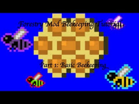 Minecraft: Forestry Mod Beekeeping Tutorial Part 1 - Basic Beekeeping