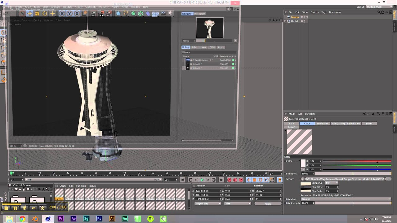 Import Google Sketchup Models To Cinema 4d From 3d