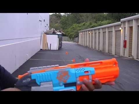 Nerf Zombie Strike Sledgefire Firing Test