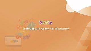 Creating Lead Capture Forms via LeadUp Addon