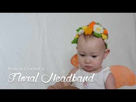 How to crochet a floral headband