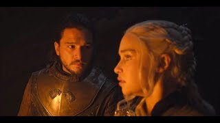 Jon Snow tells Daenerys that he is Aegon Targaryen #GameofThrones
