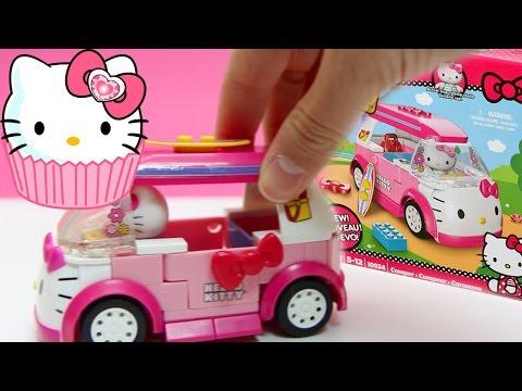 Hello Kitty Mega Bloks Hello Kitty Camper Van Caravana Lego Duplo Construction Blocks ハローキティ video