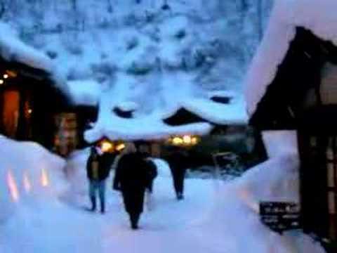 鶴の湯温泉 夕景
