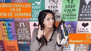 LIBROS PARA LEER EN UN FIN DE SEMANA con Kyoko | Random Talks