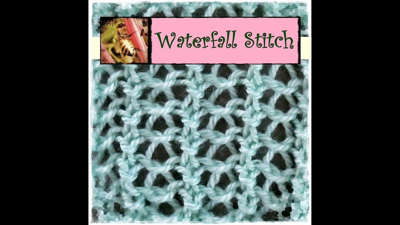 Loom Knitting Stitches Instructions : Loom Knitting Waterfall Stitch - YouTube