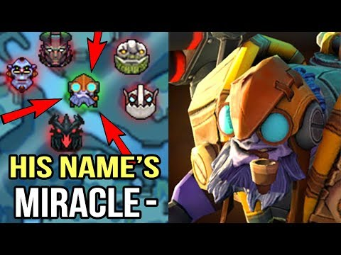 CRAZY FAST HAND Miracle- Tinker Feed to God Non-Stop Gang Mid Epic Gameplay WTF Dota 2