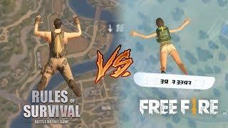 FREE FIRE VS. RULES OF SURVIVAL - QUAL JOGO É MELHOR?