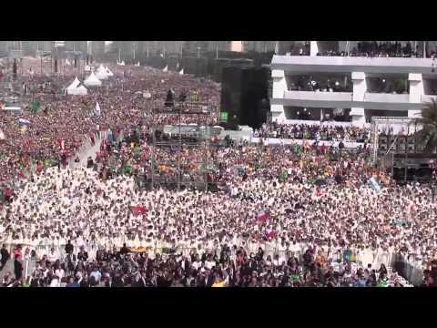O maior flash mob do mundo - JMJ Rio 2013