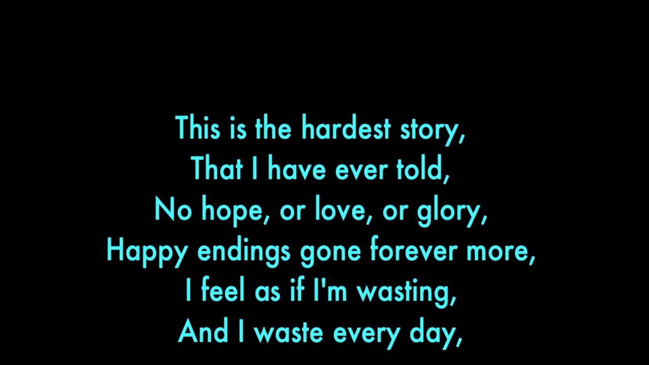 happy ending lyrics