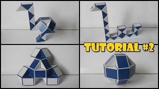 Rubik's Twist 24 Tutorial #2 - Ostrich 1 - Flower - Ball - Loch Ness Monster