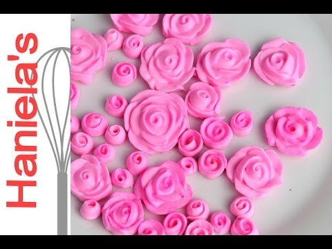 How To Make Mini Royal Icing Roses - YouTube