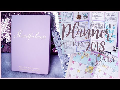Ежедневник 2018//Daily, weekly, monthly PLANNER\\