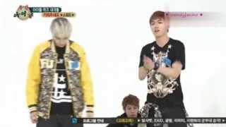 130417 Weekly Idol SPEED Sungmin 3D,2D imitation moves of games