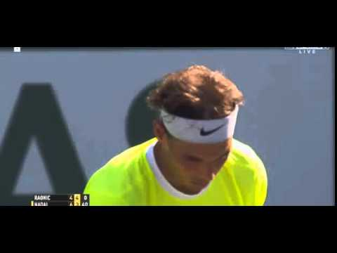 Rafael Nadal VS Milos Raonic Indian wels 2015 Crazy Point