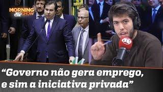 """Nadando contra a corrente """"para exercitar"""", Coppolla analisa discurso de Rodrigo Maia"""