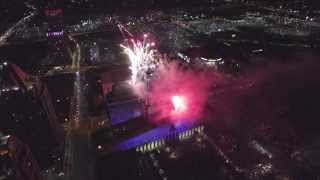 Canada Day 2015 @ Celebration Square Mississauga (Raw Aerial Video) Unedited