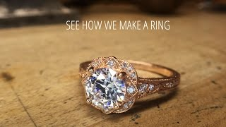 How To Make a Diamond Ring | Christopher Duquet Award Winning Custom Fine Jewelry