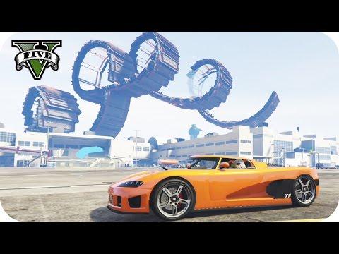 LOL!! 4 LOOPINGS GIGANTES!!   GTA V ONLINE RACE   Flow