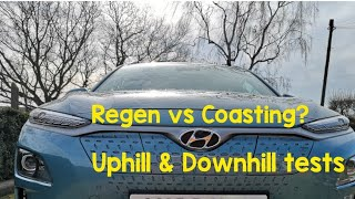 Regen Vs Coasting test in the Kona Electric