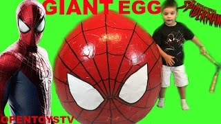 SPIDERMAN SURPRISE EGG 2  SPIDERMAN FOR KIDS AND SPIDERMAN TOYS