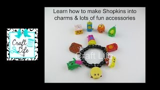 Craft Life ~ Jacy and Kacy DIY ~ Learn How to Make Shopkins into Charms & Lots of Fun Accessories