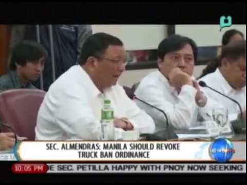 Sec. Almendras: Manila should revoke truck ban ordinance || Sept. 11, 2014