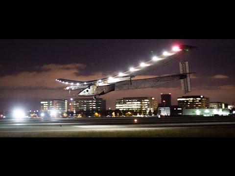 Solar-Powered Plane Crosses Pacific Ocean, Lands in California