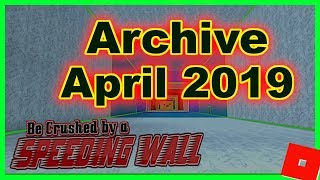 NEW CODES ➤ MARCH 2019 ➤ Be Crushed by a Speeding Wall ➤ Roblox