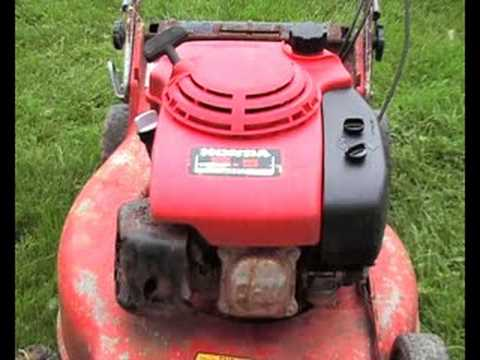 HONDA 5.5 GXV160 lawnmower engine - YouTube