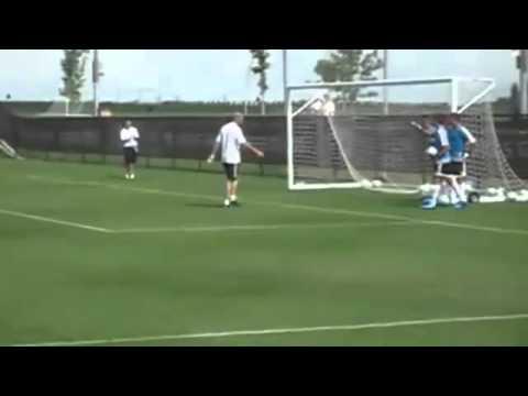 Zinedine Zidane Soccer Training Goal 2011