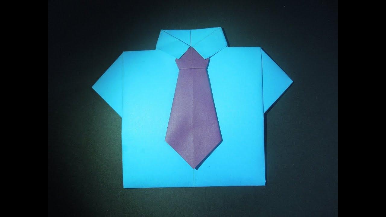 Открытка с рубашками из оригами 397