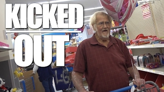 WE GOT KICKED OUT OF WALMART!!