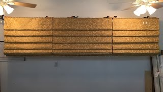 How To Make A Hobbled Roman Shade ( Part 6 of 6)