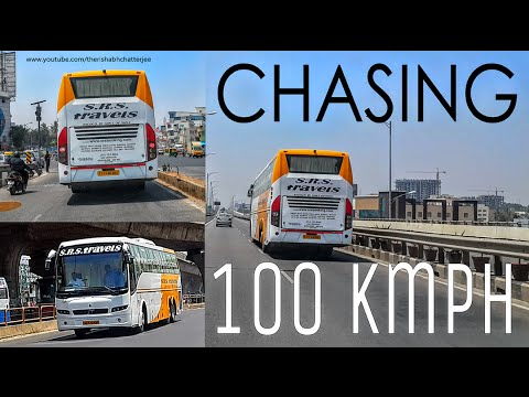 SRS Travels Volvo Bus Cruising At 100 Kmph | #RCBuses | Bengaluru | India