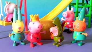 Princess Peppa Pig with Sir George Pig Toys from Once Upon a Time Storytime Figure Pack Collection