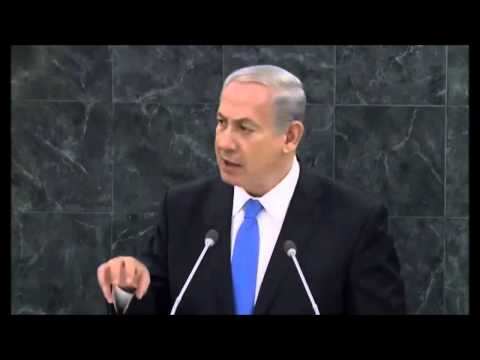 Israel Prime Minister Netanyahu Before The UN General Assemb